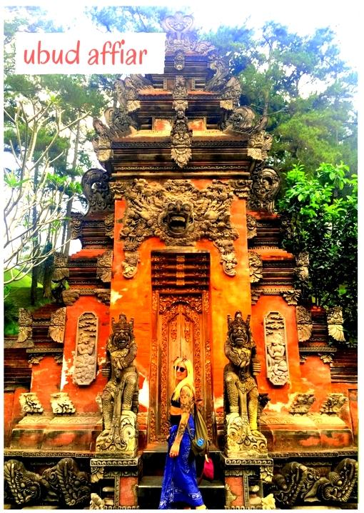bali streets temples ubud girl sarong